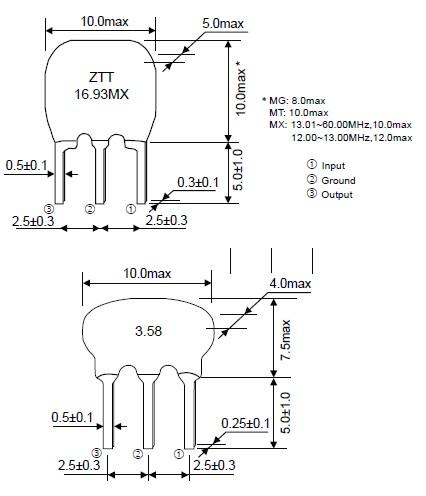 ztt16.93mx,谐振器