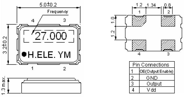 石英晶体振荡器,贴片晶振,加高有源晶振,hso531s振荡器