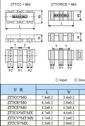 陶瓷晶振,7.2x3.4三脚贴片晶振