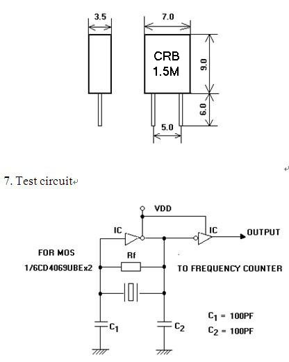 crb1.5m,陶瓷晶振,低频陶瓷谐振器