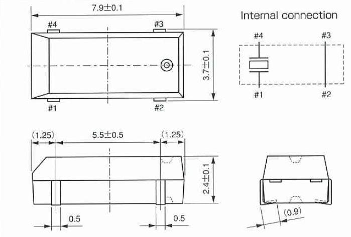 贴片晶振规格 符号 cm250s 条件 额定频率范围 f_nom 30khz-100khz 7