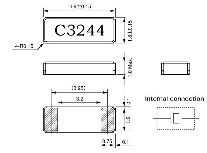 日本西铁城株式会社,cm519贴片晶振,音叉水晶振动子