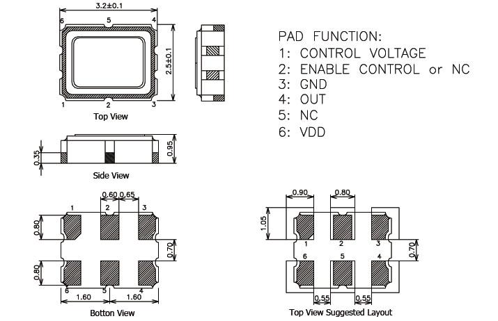 dj 3225压控振荡器,dr贴片晶振,txc晶体
