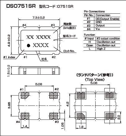 有源晶振,kds晶振,dso751sr