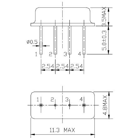 声表面谐振器,f11-kr315m