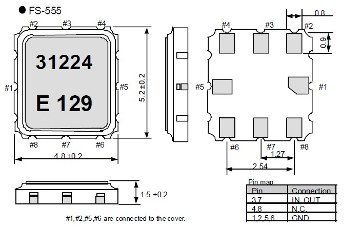 fs-555贴片无源晶振,爱普生saw晶振,交通设备晶振