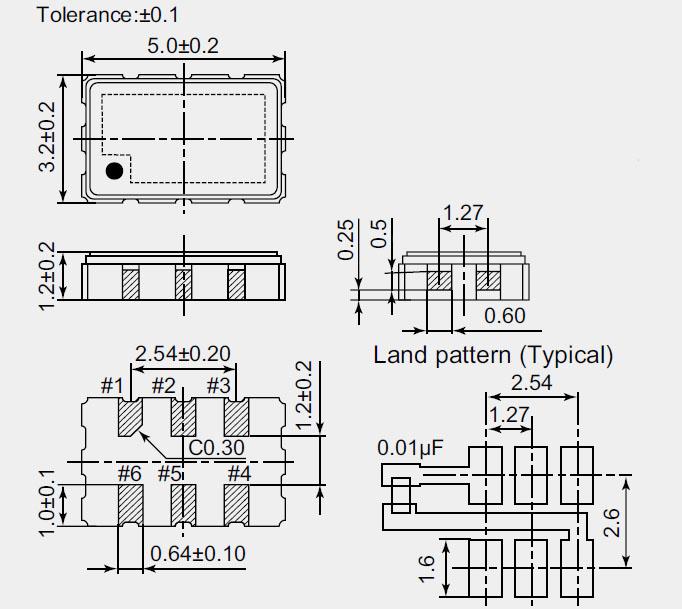ndk石英晶体振荡器,np5032sa,np5032sb有源晶振,智能手机晶振