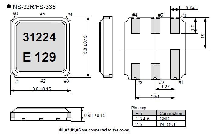 声表面谐振器,ns-32r贴片晶振
