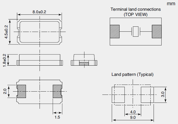 nx8045gb陶瓷面晶振,石英晶体谐振器,进口ndk晶振