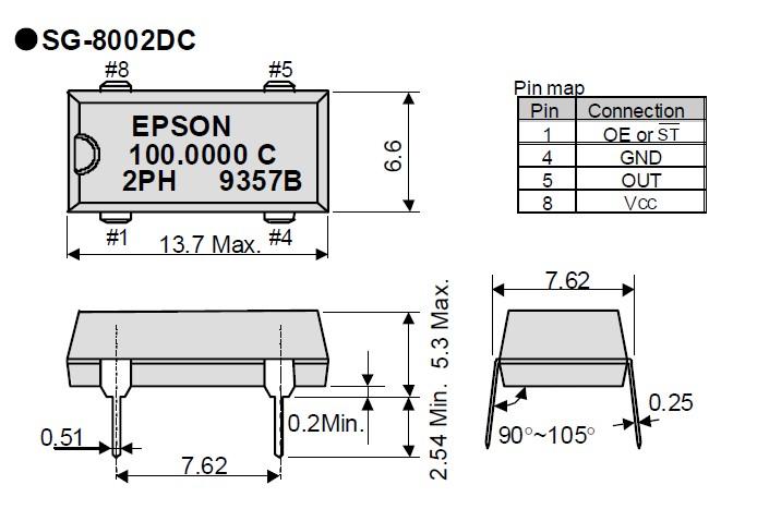 爱普生有源晶振,智能gps导航晶振,sg-8002dc插件晶振
