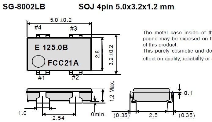 SG-8002LB石英晶振,进口日本晶振,爱普生株式会社, 贴片有源石英晶振是指在普通无源晶体上增加了电压,内部集成了相应IC与电容电阻,需要在净化万级车间生产,并且在密封机器设备中焊接加盖,内部封装模式是指在真空封装区域内进行封装.1.防止外界气体进入组件体内受到污染和增加应力的产生;2.