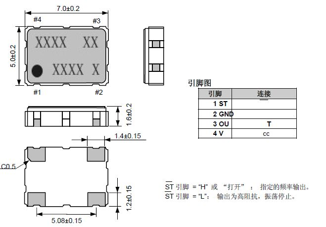 当把石英共振子与振荡线路或集成电路(IC)一起整合在一个封装内, 由外部提供电源电压, 形成一个主动组件输出频率信号, 就是所谓的石英晶体振荡器. 石英晶体振荡器可以藉由单一封装组件内部不同的振荡线路及输出线路, 提供不同特性需求的参考频率(reference frequency). 例如有 石英频率振荡器SPXO ( Simple Package Crystal Oscillator ) 或称为 CXO ( Clock Crystal Oscillator ), 可程序化石英晶体振荡器PCXO (