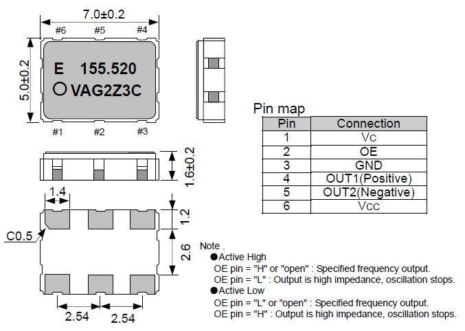 爱普生株式会社,vg-4512ca压控晶体振荡器,有源晶振